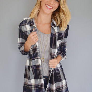 Mountain Town Flannel Top