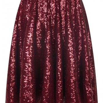 BRIGHT & BEAUTIFUL ODETTE SEQUIN SKIRT