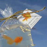 Fish in a Bag Novelty Soap Vegan friendly carnival prize fish soaps games and prizes party favors
