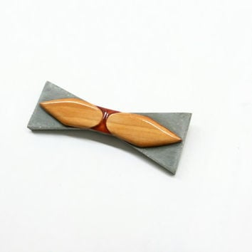 Handcrafted lightweight bow tie/Wood bow tie/Concrete bow tie