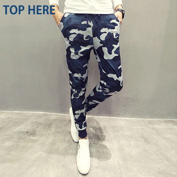 Mens Joggers Camouflage Men Pants Cool Army Skinny Casual Military Trouser Hip Hop Fashion Style Sweatpants Camo Pants