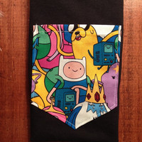 Adventure Time pocket shirts tee s/m/l/xl