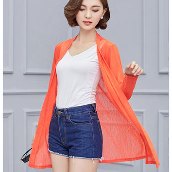 Women 2017 Spring Summer Cardigan Long Sleeve Blouse Shirt Woman Sweater Casual Crochet Poncho Clothing Blusas Plus Size Tops