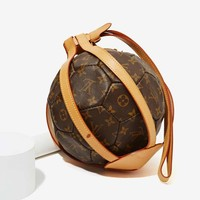Vintage Louis Vuitton Monogram Leather Soccer Ball