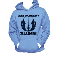 Star Wars Jedi Academy Alumni Star Printed Hanes Hooded Unisex Sweatshirt