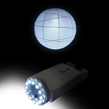 Remote Controlled Paper Lantern Light 12 LED Cool White remote sold separately PLL-12W-RC