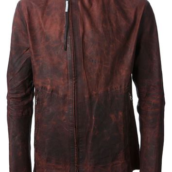 Isaac Sellam Experience double zip distressed jacket