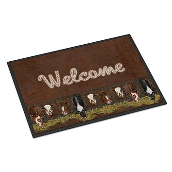 Welcome Mat with Cows Indoor or Outdoor Mat 18x27 SB3058MAT