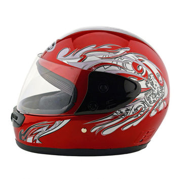Motorcycle Motor Bike Scooter Safety Helmet 101    red