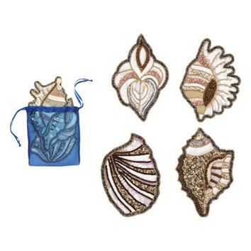 Shell Coasters by Kim Seybert | Set of 4 in Gift Bag