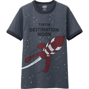 MEN TINTIN GRAPHIC SHORT SLEEVE T SHIRT | UNIQLO