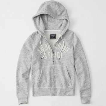 Abercrombie & Fitch Women Fashion Casual Cardigan Jacket Coat Hoodie-20