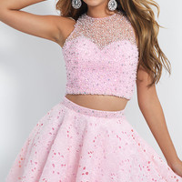 Short Pink Two Piece Dress from Intrigue by Blush