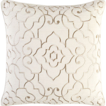Surya Adagio Throw Pillow Neutral, Neutral