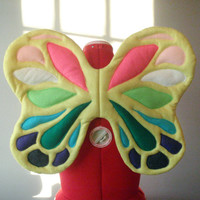 Easter Butterfly Wings. Srping Color. Felt, No Wire. Fairy Queen King. Original design.