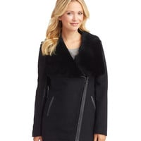 7 For All Mankind Drape Front Cocoon Coat