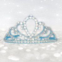 Princess Headband - Bue Tiara - Flower Girl Hair Accessories - Frozen Princess - Princess Costume - Wedding Hair Accessories