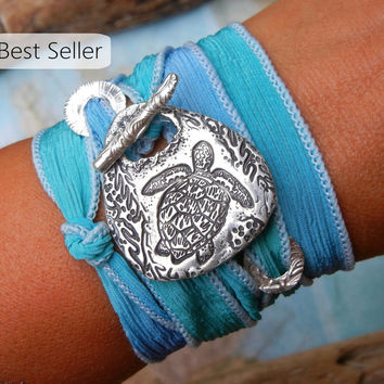 Best Seller SEA TURTLE Wrap Bracelet by HappyGoLicky Jewelry