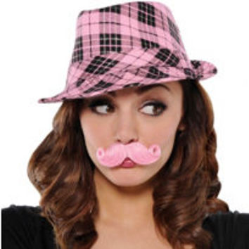 Pink Mini Handlebar Moustache- Party City