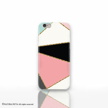 Geometric iPhone 6 case-abstract iPhone case-glitter iPhone 6 case-Galaxy s6-galaxy s5-iPhone 5-iPhone 4-custom case-by Natura Picta-NP3D049