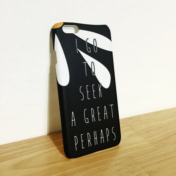 I Go To Seek A Great Perhaps - Daisy - Wanderlust - Wander - Travel - Full printed case for iPhone - by HeartOnMyFingers - ANT-076