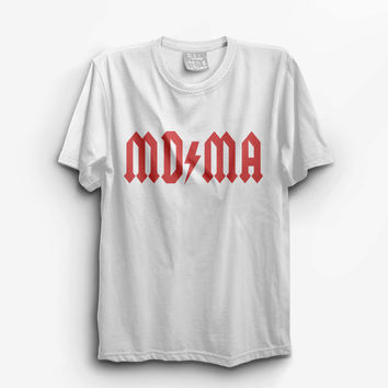 MDMA T Shirt - Vintage Style Graphic Tee - Band Tshirt Slogan Top #ootd #instafashion S M L XL