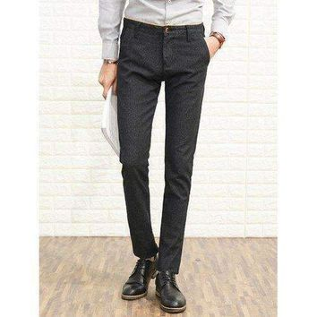 Slim Fit Zip Fly Heather Chino Pants