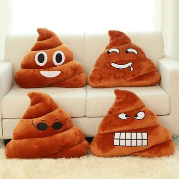 2016 Cartoon Cushion Emoji Pillow Gift Poop Stuffed Toy Doll Christmas Present Funny Plush Bolster Cojines Pillow Cushion Decor