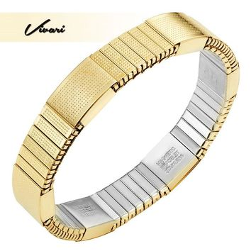 2017 Women Gold Color Magnetic Lady Bracelet for Women Imitation Costume Healing Bangle Jewelry Ladies Gift Wearing Accessories
