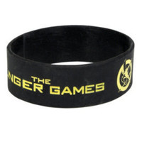 The Hunger Games Logo Rubber Bracelet