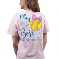 Simply Southern Preppy Collection Play Like a Boss Softball Tee