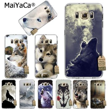 MaiYaCa Classic Cool Wolf Hipster Transparent TPU Soft Phone Accessories Case For Samsung s5 s6 s7 s6 edge plus s8 s8plus s9case