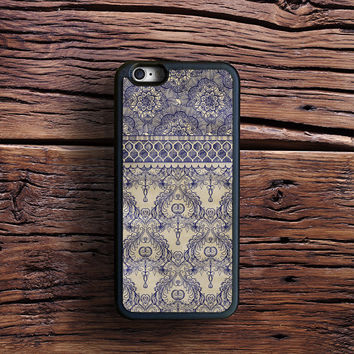 Vintage Wallpaper - hand drawn patterns in navy blue & cream Case iPhone 6s Plus, iPhone 6 case, iPhone 5s 5C 4s Case, Samsung Case, iPod case, iPad Case, HTC Case, Nexus Case, LG case, Xperia case