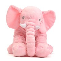 Pink Large Elephant Pillows Cushion Baby Plush Toy Stuffed Animal Kids Gift