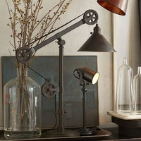 WARREN PULLEY TASK TABLE LAMP