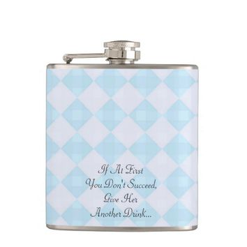 """If At First You Don't Succeed"" Retro Flask"