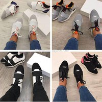 2017 Paris Balenciaga High Quality Race Runner Shoes Woman Casual Shoe Man's Fashion Colorful Patchwork Mesh Mixed Colors Trainer Sneakers With Box Size 46