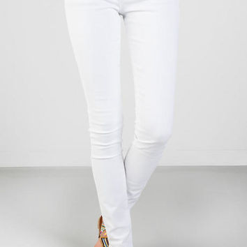 Harper Ultra Skinny Jeans In White