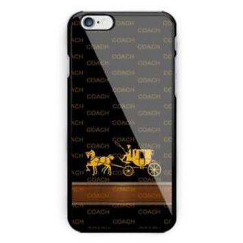 Best Selling Coach.. Gold Logo iPhone 7 and 7+ Hard Plastic Case