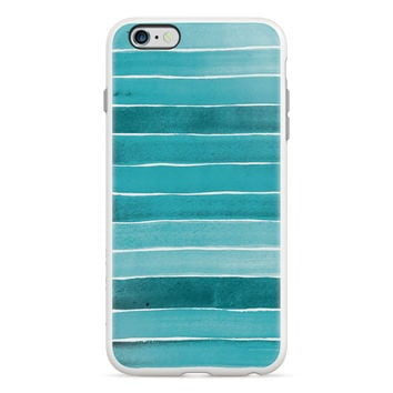 Watercoloured Horizontal Blue Stripe PlayProof Case for iPhone 6 Plus / 6s Plus