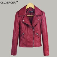 brand real leather jacket womens jackets leather clothing slim motorcycle jacket women leather jacket outerwear jaqueta de couro