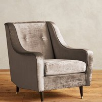 Slub Velvet Adrie Chair by Anthropologie