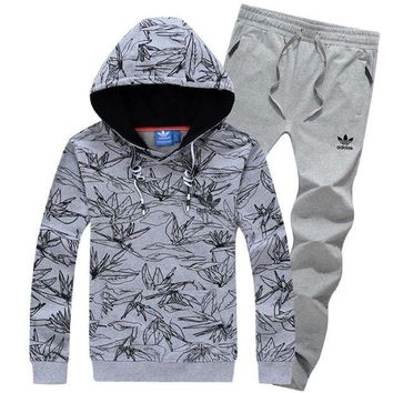 NOV9O2 Adidas Top Sweater Pullover Hoodie Pants Trousers Set Two-Piece Sportswear-7