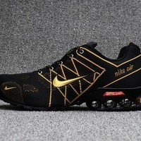 DCCK7JT Dependable Nike Air Ultra Max 2018. 5 Shox Black Gold Trainers Men's Running Shoes