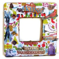 Skiing Gift for Women - Collage Picture Frame - Winter Wonderland - For Skiers