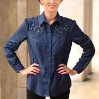 SALE! Classic ladies blouse with studs