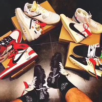 OFF WHITE x Nike Custom Made The 10 : Blazer Studio | Zoom Vaporfly | Air More Uptempo | Air Max 90 Ice | AIR Presto OW | Air Force 1 | Air Max 97 OG | Air VaporMax | Jordan 1 Sport Shoes Sneaker