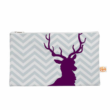 "Suzanne Carter ""Chevron Deer"" Purple  Everything Bag"