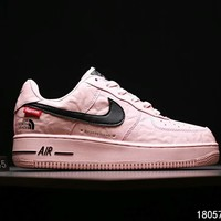 The North Face x Supreme x Nike Air Force 1 tripartite joint series sports shoes F-CSXY pink
