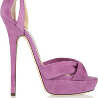Jimmy Choo Greta suede sandals – 49% at THE OUTNET.COM